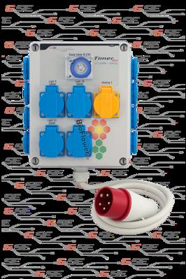 Timerbox II 12x600W+topení 2000W, třífázové